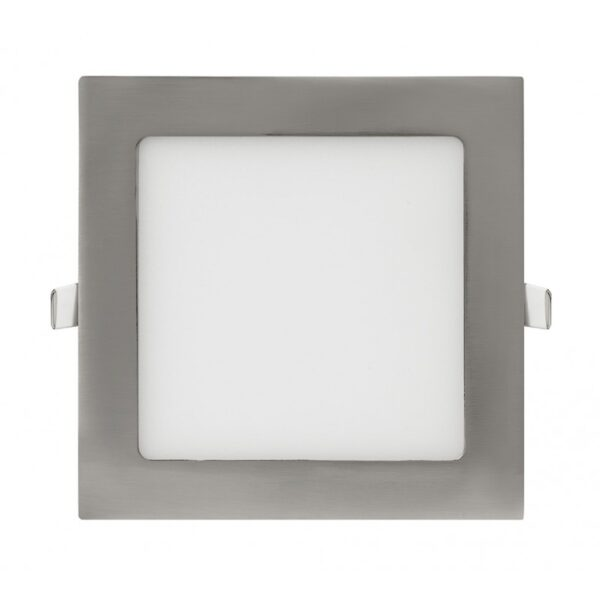 Downlight LED cuadrado cromo 6w en luz fría o neutra