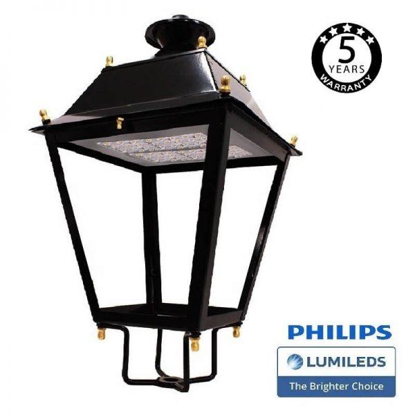Farola Villa Aluminio LED 100W LUMILEDS 150Lm/W