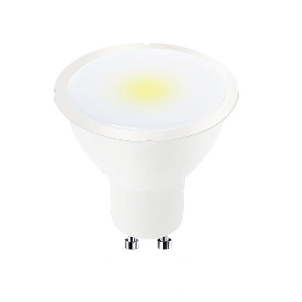 Bombilla LED GU10 100º 7w regulable en luz cálida, neutra o fría