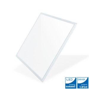 Panel LED 60x60 cm marco blanco en luz fría o neutra