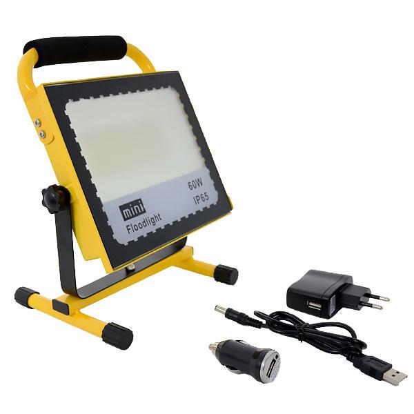Foco LED portátil recargable con batería 56w COB IP65 6000k