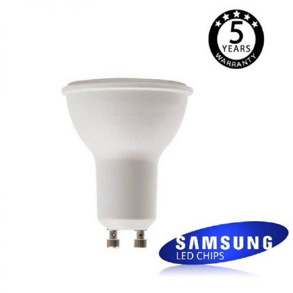 Bombilla LED GU10 para uso intensivo 6w en luz cálida, neutra o fría