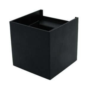 Aplique de pared cuadrado LED Black Cube 6w IP54