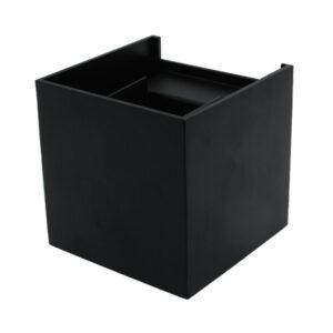 Aplique de pared cuadrado LED Black Cube 6w IP54
