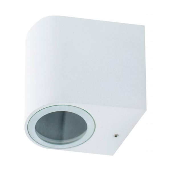 Aplique pequeño blanco curvado GU10 IP54