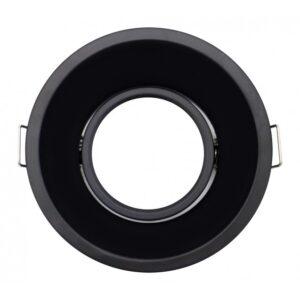 Aro empotrable negro redondo para bombilla GU10 o MR16