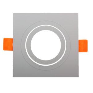 Aro basculante cuadrado blanco Serie Luxury para GU10/MR16