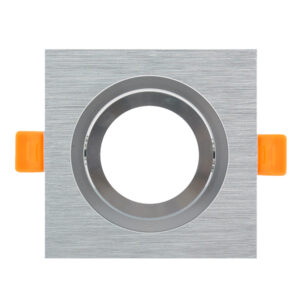 Aro basculante cuadrado níquel Serie Luxury  para GU10/MR16