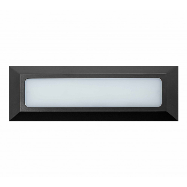 Baliza de Superficie Led Long Wall Rectangular Negro 3W IP65