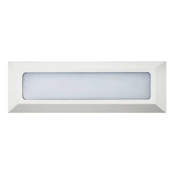 Baliza de Superficie Led Wall Long Rectangular Blanco 3W IP65