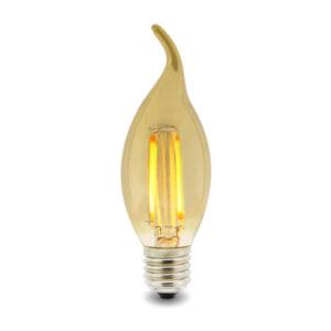 Bombilla LED Filamento E14 C35 Punta  4W Ámbar
