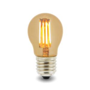 Bombilla LED Filamento E27 G45 4W Ámbar