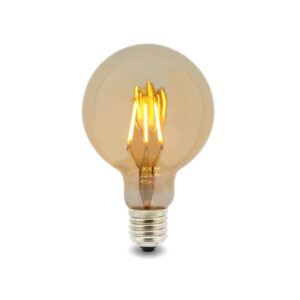 Bombilla LED Filamento E27 G125 6W Ámbar
