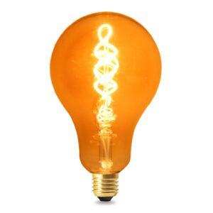 Bombilla LED Filamento Espiral E27 A100 4W Ámbar