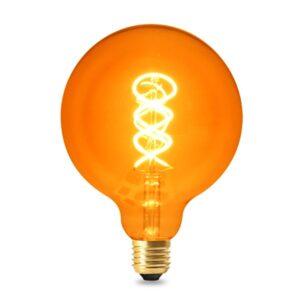 Bombilla LED Filamento Espiral E27 G125 4W Ámbar