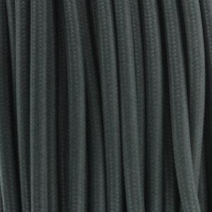 Cable textil eléctrico negro 25 metros