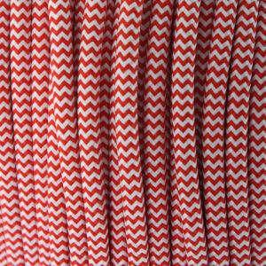 Cable textil eléctrico rojo y blanco 25 metros