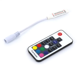 Controlador mini para tiras led RGB con control remoto por RF