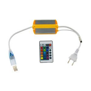 Controlador para Neón LED RGB 220V con mando