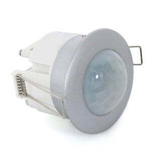 Detector de Presencia PIR 360º Empotrable Silver