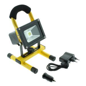 Foco proyector LED portátil con batería Laptop 10W