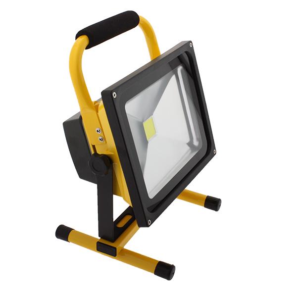 Foco proyector LED portátil con batería Laptop 30W