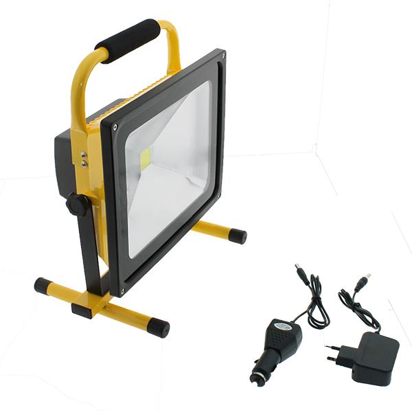 Foco proyector LED portátil con batería Laptop 50W