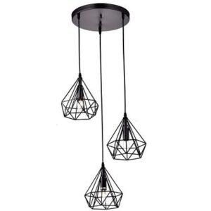 Lámpara de techo Vintage 3L Cage