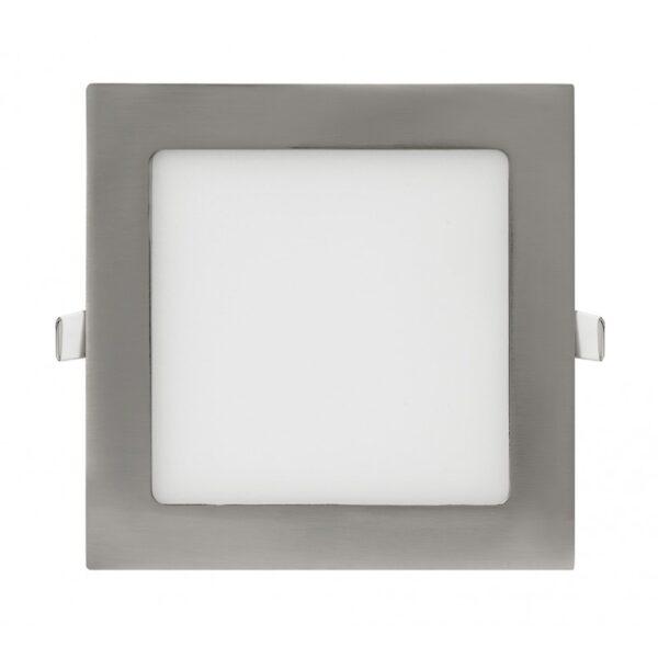 Panel LED Cuadrado Niquel 9W