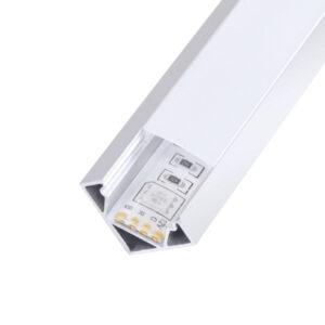 Perfil en L para esquinas tiras LED 12/24v de aluminio 2m Kopep