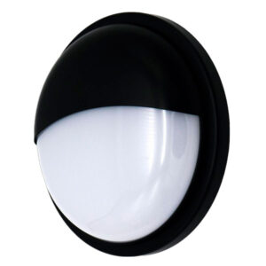 Aplique LED exterior redondo media luna negro 20w IP65