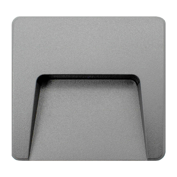 Baliza gris de superficie cuadrada LED 3w IP65 luz cálida