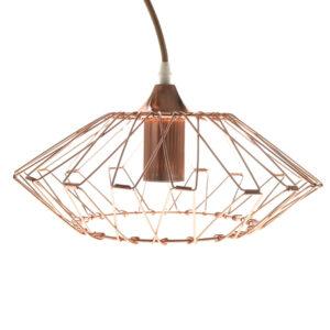 Lámpara de techo plegable de metal cobrizo Kandang