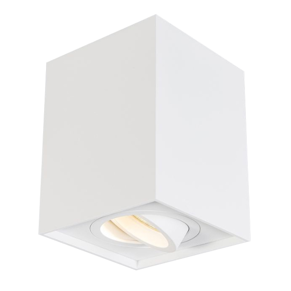 foco led de superficie orientable gu10 blanco