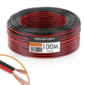 Cable Tira LED (Audio) 2x0.5mm 100 Metros