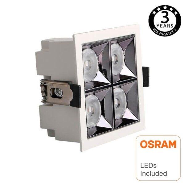 Empotrable LED 20W OSRAM Chip  PALACE 24º UGR17 140lm/W