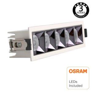 Empotrable LED 25W OSRAM Chip PALACE 24º UGR17 140lm/W