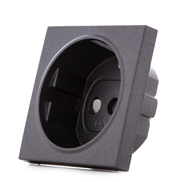 Cazoleta Panasonic Novella Toma Corriente Tt Lateral Fume (Compatible Mecanismo Karre)