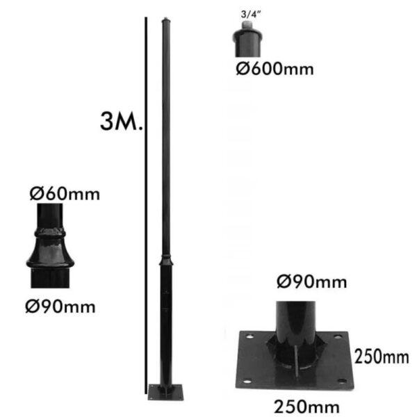 columna reike 3 metros