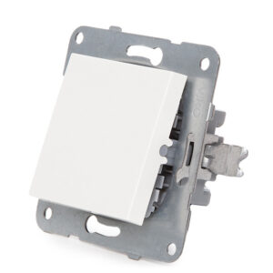 Interruptor Panasonic Karre 10A 250V/Bastidor Metálico con Garras/Tecla Blanca