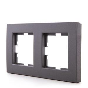 Marco Panasonic Novella 2 Elementos Horizontal/Vertical Tecnopolímero Fume (Compatible Karre)