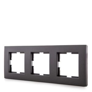 Marco Panasonic Novella 3 Elementos Horizontal/Vertical Tecnopolímero Fume (Compatible Mecanismo Karre)