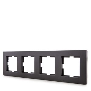 Marco Panasonic Novella 4 Elementos Horizontal/Vertical Tecnopolímero Fume (Compatible Mecanismo Karre)