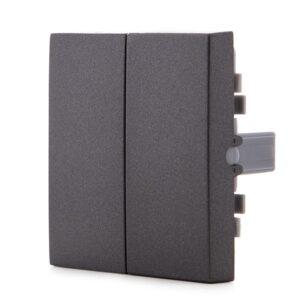 Tecla Partida Panasonic Novella Interruptor/Conmutador Doble Color Fume (Compatible Karre)
