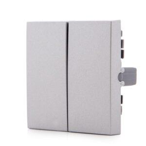 Tecla Partida Panasonic Novella Interruptor/Conmutador Doble Color Plata (Compatible Mecanismo Karre)
