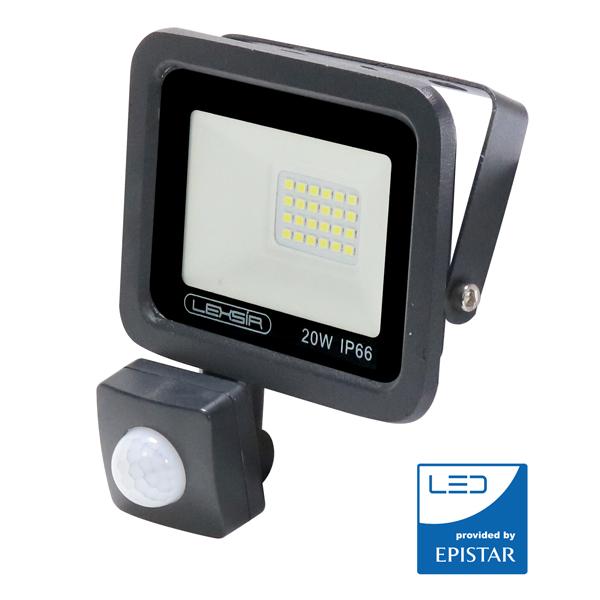 Foco LED 20w con sensor de movimiento IP65