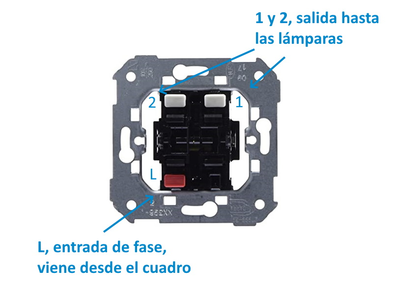 cableado interruptor simple
