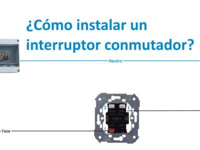 cómo instalar un interruptor conmutador