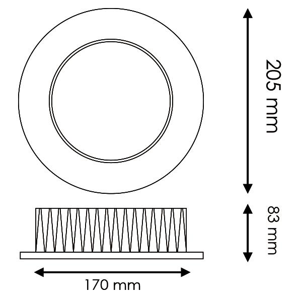Downlight LED Osram 30w UGR 17 4500K y 6000K Lifud