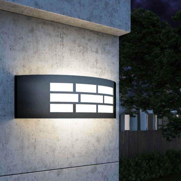 Aplique LED E27 GOTEMBURGO GRIS Exterior